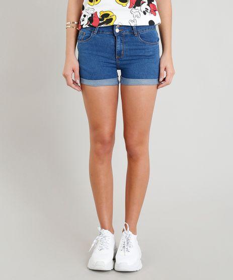 Short-Jeans-Feminino-Reto-com-Bolsos-e-Barra-Dobrada-Azul-Medio-9346415-Azul_Medio_1