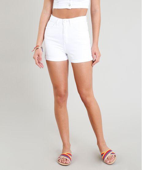 Short-Feminino-Hot-Pant-Cintura-Alta-com-Barra-Dobrada-Branco-9365615-Branco_1