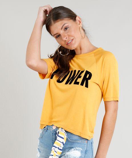 Blusa-Feminina-Ampla--Power--Manga-Curta-Decote-Redondo-Mostarda-9341689-Mostarda_1