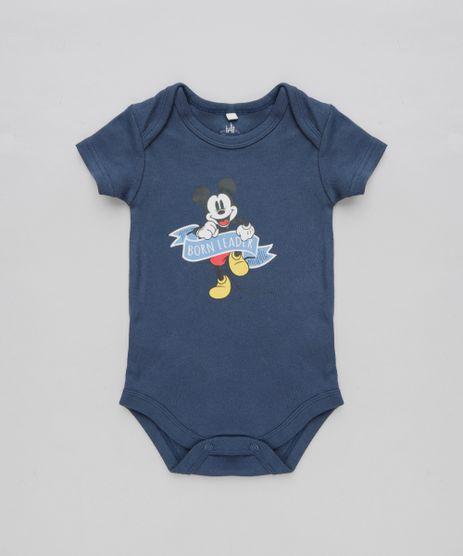 Body-Infantil-Mickey--Born-Leader--Manga-Curta-Gola-Careca-Azul-Marinho-9190674-Azul_Marinho_1