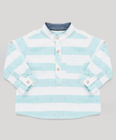 Camisa-Infantil-Listrada-com-Linho-Gola-Padre-Manga-Longa--Branca-9125714-Branco_1