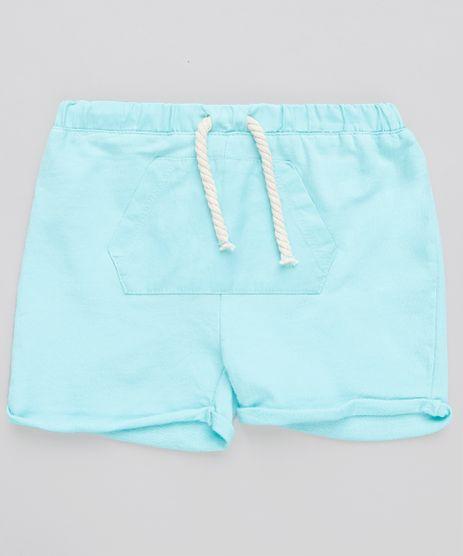 Short-Infantil-em-Moletom-com-Bolso-Verde-Agua-9114256-Verde_Agua_1