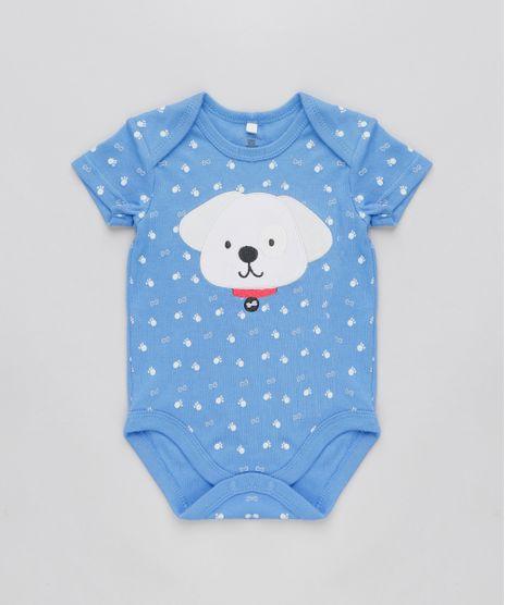 Body-Infantil-Cachorro-Estampado-Manga-Curta-Gola-Careca-Azul-9110055-Azul_1