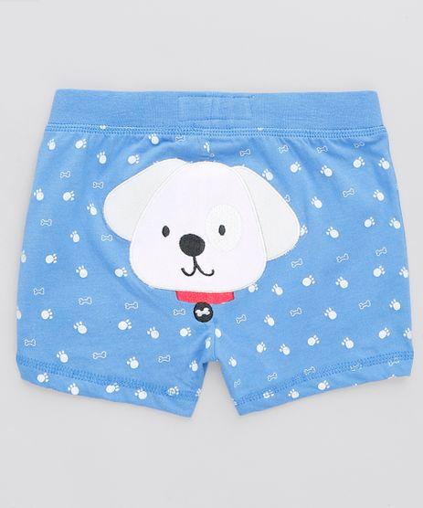 Short-Infantil-Cachorro-Estampado-Azul-9110061-Azul_1