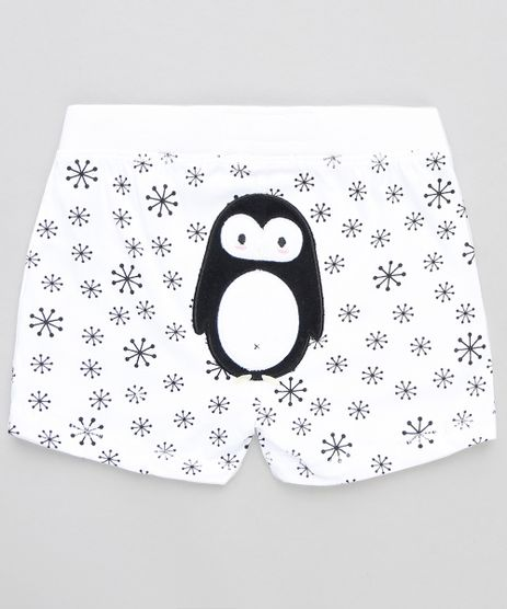 Short-Infantil-Pinguim-Estampado-Branco-9110052-Branco_1
