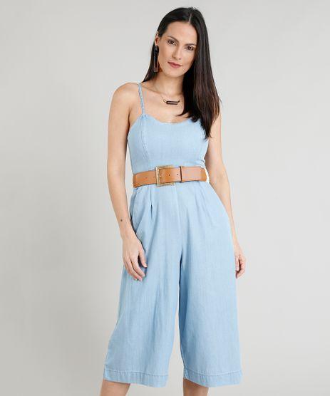 Macacao-Pantacourt-Jeans-Feminino-com-Bolsos-Azul-Claro-9244407-Azul_Claro_1