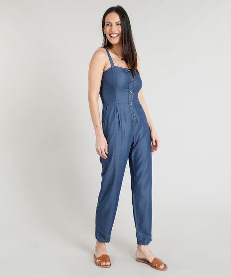 Macacao-Longo-Jeans-Feminino-com-Botoes-Azul-Escuro-9337576-Azul_Escuro_1