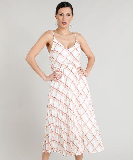 Vestido-Midi-Feminino-Plissado-Estampado-Xadrez-Decote-V-Alca-Fina-Branco-9273197-Branco_1