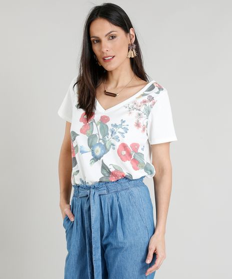 Blusa-Feminina-Estampada-Floral-Decote-V-Manga-Curta-Off-White-9355858-Off_White_1