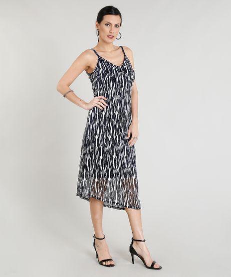 Vestido-Feminino-Mid-Transpassado-Estampado-com-Lurex-Azul-Marinho-9260769-Azul_Marinho_1