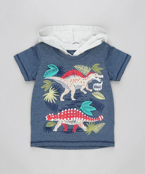 Camiseta-Infantil-com-Capuz-e-Estampa-Interativa-Dinossauros-Manga-Curta-Gola-Careca-Azul-Escuro-9321873-Azul_Escuro_1