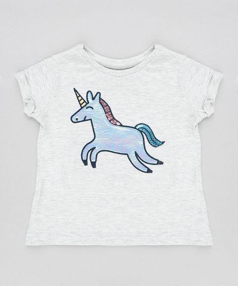Blusa-Infantil-Unicornio-Holografico-com-Paetes-Manga-Curta-Decote-Redondo-Cinza-Mescla-Claro-9381676-Cinza_Mescla_Claro_1