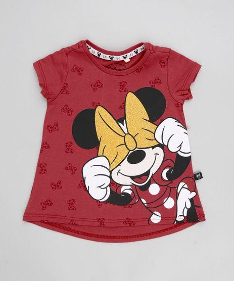 Blusa-Infantil-Minnie-com-Glitter-Manga-Curta-Decote-Redondo-Vermelha-9348617-Vermelho_1