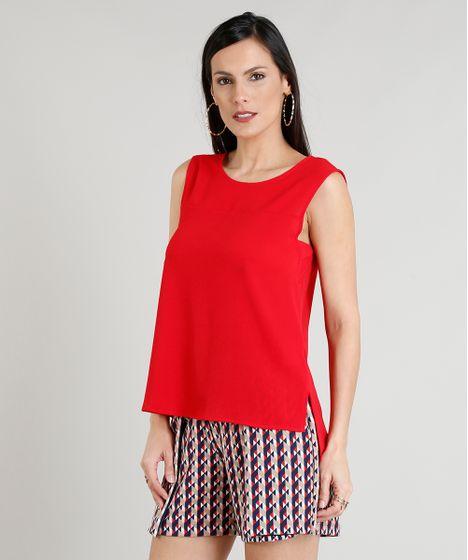 1e5f1d6ea9 Regata-Feminina-com-Recortes-Decote-Redondo--Vermelha-9262399 ...