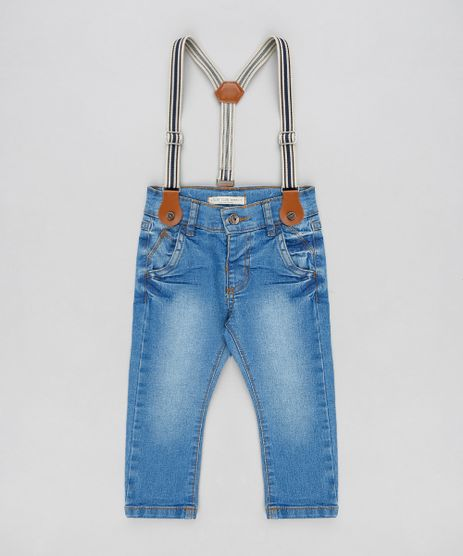 Calca-Jeans-Infantil-Slim-com-Suspensorio-Azul-Claro-9309904-Azul_Claro_1