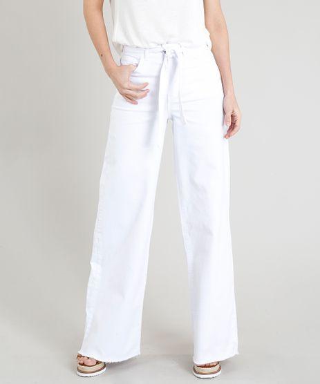 Calca-Pantalona-Feminina-com-Amarracao-e-Barra-Desfiada-Branca-9372335-Branco_1