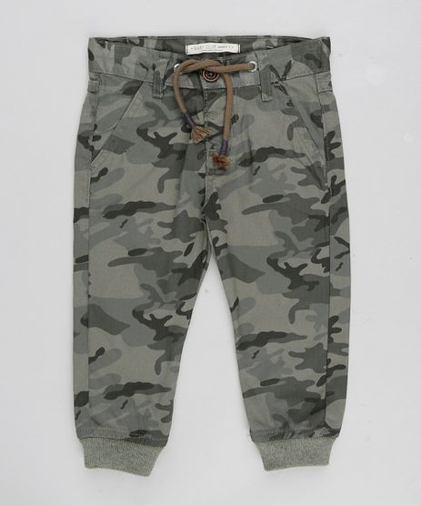 Calca-Jogger-Infantil-Estampada-Camuflada-com-Cordao-Verde-Militar-9308582-Verde_Militar_1