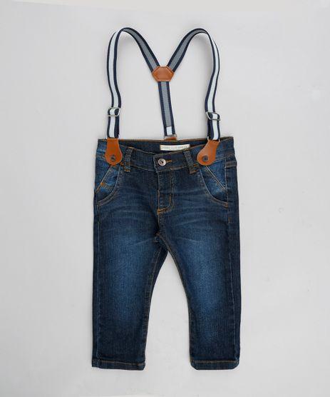 Calca-Jeans-Infantil-Slim-com-Suspensorio-Azul-Escuro-9309898-Azul_Escuro_1
