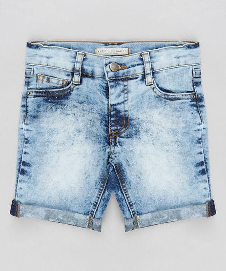 Bermuda-Jeans-Infantil-Reta-com-Barra-Estampada-Camuflada-Azul-Claro-9308640-Azul_Claro_1