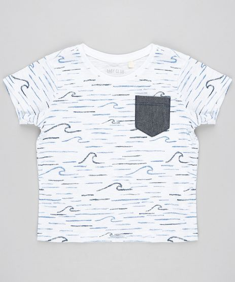Camiseta-Infantil-Botone-Estampada-de-Mar-Manga-Curta-Gola-Careca-Off-White-9302589-Off_White_1