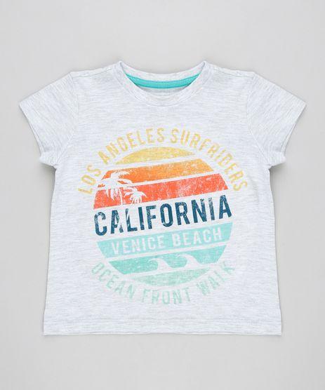 Camiseta-Infantil--California--Manga-Curta-Gola-Careca-Cinza-Mescla-Claro-9355062-Cinza_Mescla_Claro_1