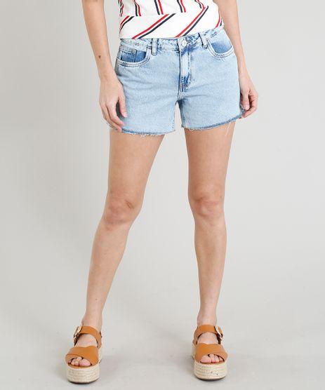 Short-Jeans-Feminino-Midi-com-Barra-Desfiada-Azul-Claro-9381768-Azul_Claro_1