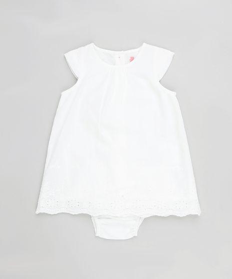 Vestido-Infantil-em-Laise-Manga-Curta---Calcinha-Branco-9123306-Branco_1