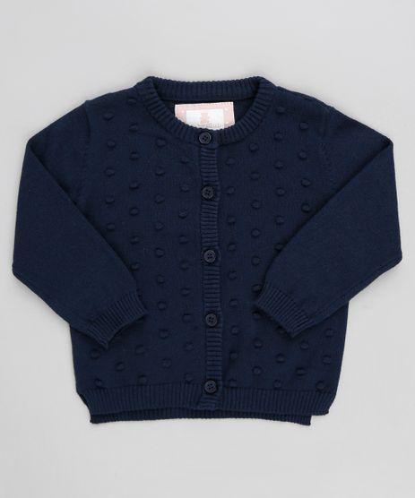 Cardigan-Infantil-em-Trico-com-Textura-Manga-Longa-Azul-Marinho-9205027-Azul_Marinho_1
