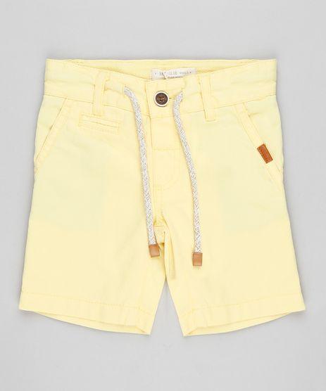 Bermuda-Color-Infantil-Reta-com-Cordao-Amarela-9197967-Amarelo_1