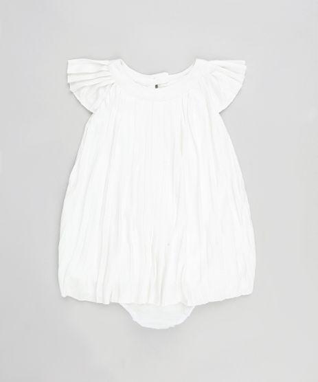 Vestido-Infantil-Plissado-com-Brilho-Manga-Curta---Calcinha-Off-White-9199160-Off_White_1