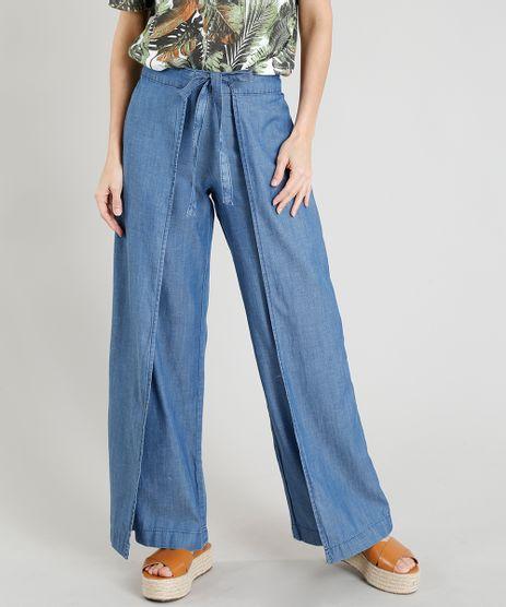 Calca-Jeans-Pantalona-Feminina-com-Sobreposicao-e-Amarracao-Azul-Claro-9375404-Azul_Claro_1