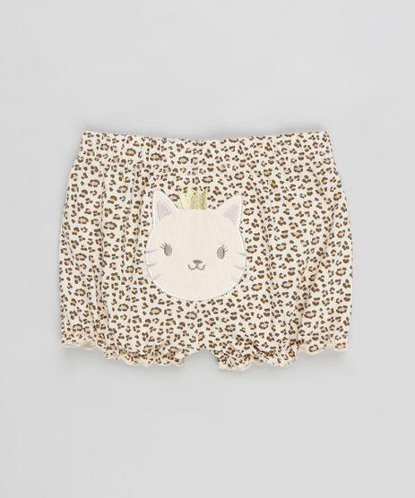 Short-Infantil-Onca-Estampado-Animal-Print-com-Laco-Bege-9110019-Bege_1