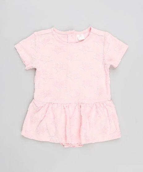 Body-Saia-Infantil-Texturizado-Estrelas-Manga-Curta-Decote-Redondo-Rosa-9125739-Rosa_1
