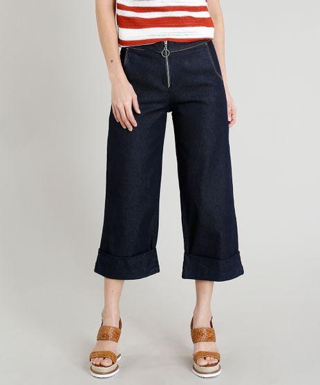 Calca-Jeans-Pantacourt-Feminina-com-Ziper-de-Argola-Azul-Escuro-9269748-Azul_Escuro_1