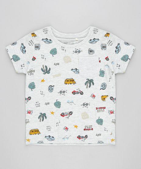 Camiseta-Infantil-com-Bolso-e-Estampa-Variada-Manga-Curta-Gola-Careca-Cinza-Mescla-Claro-9302595-Cinza_Mescla_Claro_1