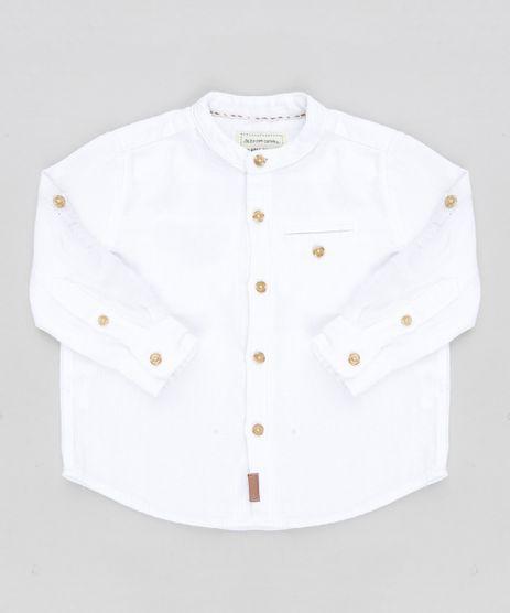 Camisa-Infantil-Texturizada-Gola-Padre-Manga-Longa-Branca-9189163-Branco_1