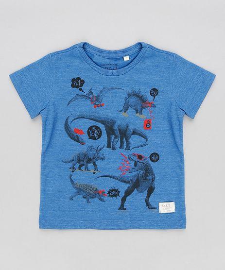 Camiseta-Infantil-Flame-com-Estampa-Dinossauros-Manga-Curta-Gola-Careca-Azul-9200499-Azul_1