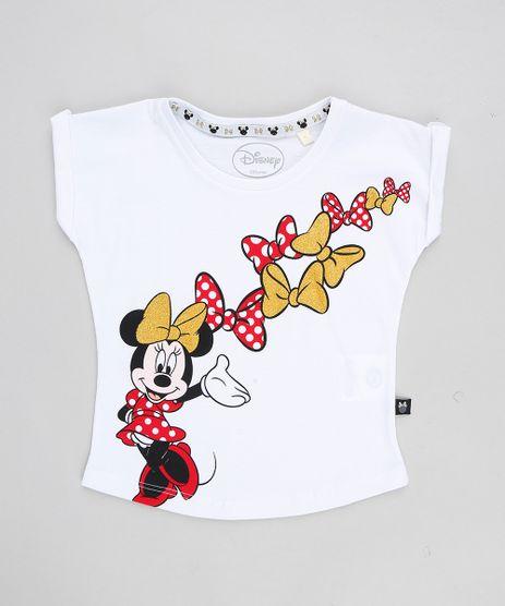 Blusa-Infantil-Minnie-Lacos-com-Glitter-Manga-Curta-Decote-Redondo-Branca-9348618-Branco_1