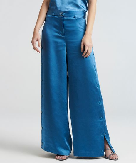 Calca-Feminina-Pantalona-Acetinada-Mindset-com-Botoes-Laterais-e-Cinto-Azul-9385651-Azul_1