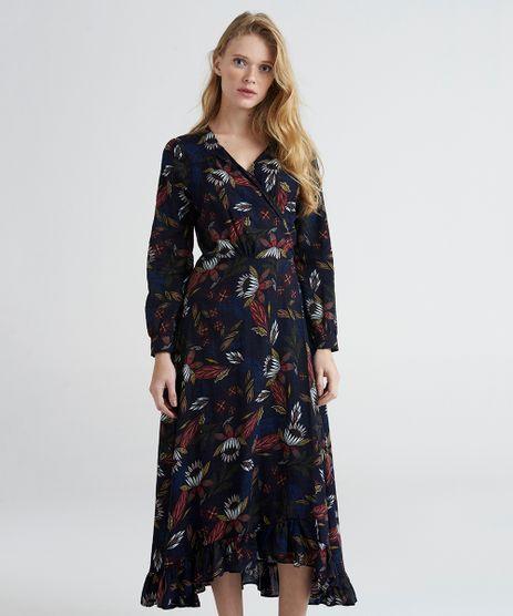 Vestido-Midi-Envelope-Mindset-Estampado-Floral-com-Babados-Manga-Longa-Azul-Marinho-9389669-Azul_Marinho_1