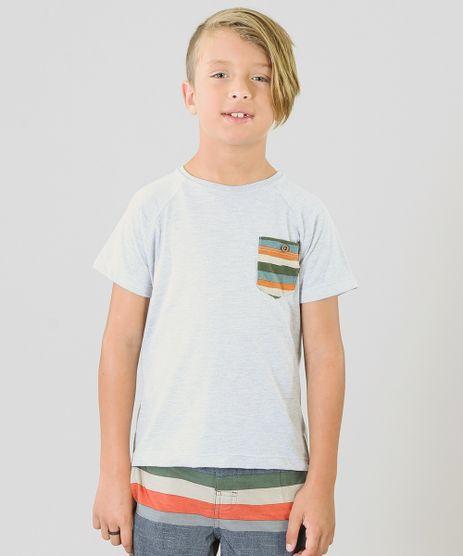 Camiseta-Infantil-Agua-de-Coco-Tal-Pai-Tal-Filho-com-Bolso-Listrado-Manga-Curta-Gola-Careca-Cinza-Mescla-Claro-9342057-Cinza_Mescla_Claro_1