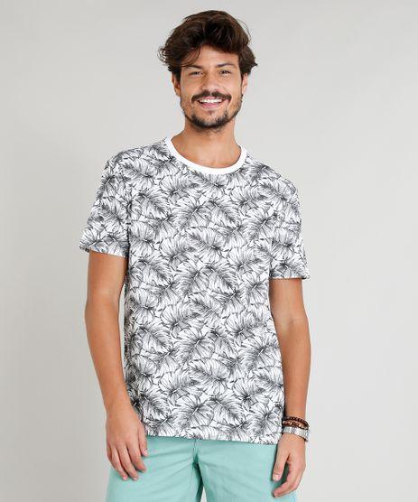 Camiseta-Masculina-Estampada-Tropical-Manga-Curta-Gola-Careca-Branca-9382526-Branco_1