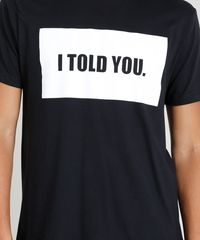8fe6ad09ee ... Camiseta-Masculina--I-told-you--Manga-Curta-. Camiseta Masculina