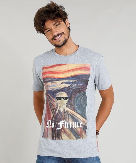Camiseta-Masculina--No-Future--Manga-Curta-Gola-Careca-Cinza-Mescla-9380319-Cinza_Mescla_1