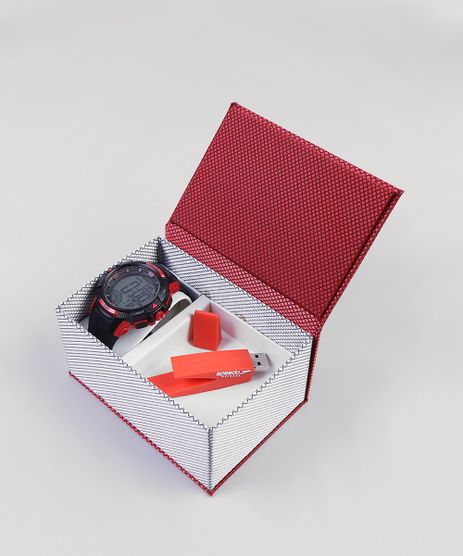 Kit-de-Relogio-Digital-Speedo-Masculino---Pen-Drive---11003G0EVNP1KA-Preto-9399842-Preto_1