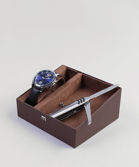 Kit-de-Relogio-Analogico-Mondaine-Masculino---Canivete---76672G0MVNH2KB-Prateado-9399665-Prateado_1
