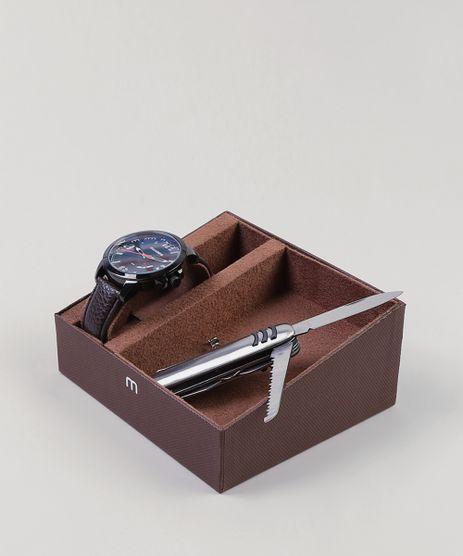 Kit-de-Relogio-Analogico-Mondaine-Masculino---Canivete---99342GPMVPH1K-Preto-9401898-Preto_1