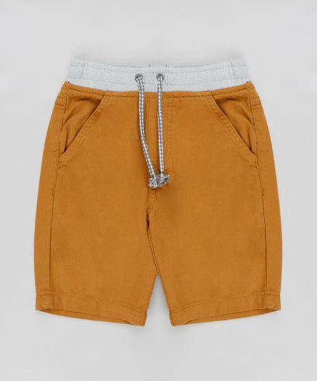 Bermuda-Color-Infantil-com-Cordao-de-Ajuste-Caramelo-9347758-Caramelo_1
