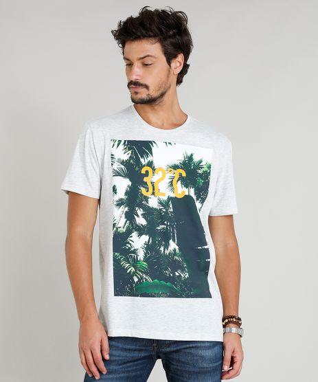 Camiseta-Masculina--32°-C--Manga-Curta-Gola-Careca-Cinza-Mescla-Claro-9276250-Cinza_Mescla_Claro_1