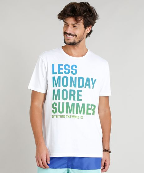 Camiseta-Masculina--Less-Monday-More-Summer--Manga-Curta-Gola-Careca-Branca-9276508-Branco_1
